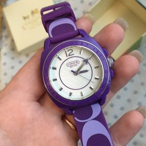 PURPLE COACH WATCH LIGHTLY USED